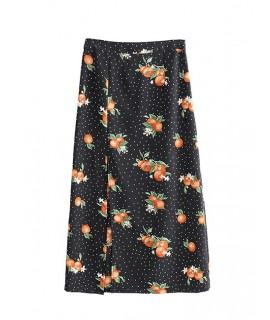 Black Dots Pattern Decorated Dress