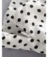 Black Dots Pattern Design V Neckline Blouse